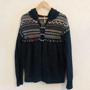 Free People Fair Isle Nordic Cardigan Sweater